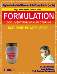 SCOURING POWDER SOAP CAKE BY SEMI BOILED PROCESS