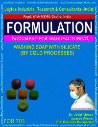 FORMULA FOR WASHING SOAP WITH SILICATE
