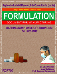 WASHING SOAP MADE GROUNDNUT OIL RESIDUE