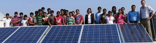on grid solar sytem for schools in hyderabad