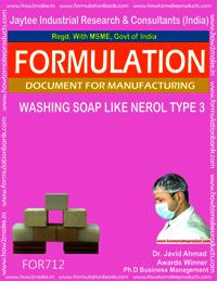 FORMULA FOR WASHING SOAP LIKE NEROL SOAP (TYPE 3)