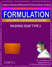 FORMULA FOR WASHING SOAP TYPE 2