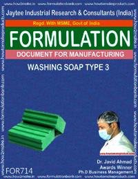 FORMULA FOR WASHING SOAP TYPE 3