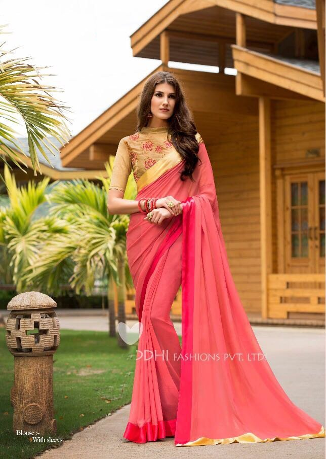Georgette bridal wear bangalory silk sarees