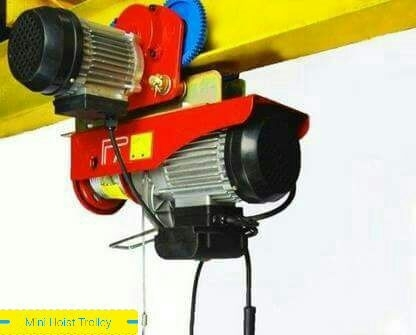 MIni Electric Wire Rope Hoist With Motorised Trolly