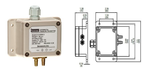 Sensocon USA 212-D040I-3 Differential Pressure Transmitter