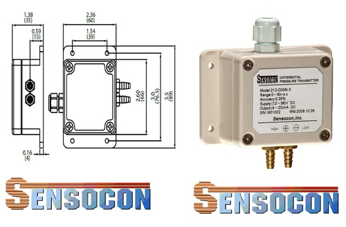 Sensocon USA SERIES 212-D250A-1 Differential Pressure Transmitter
