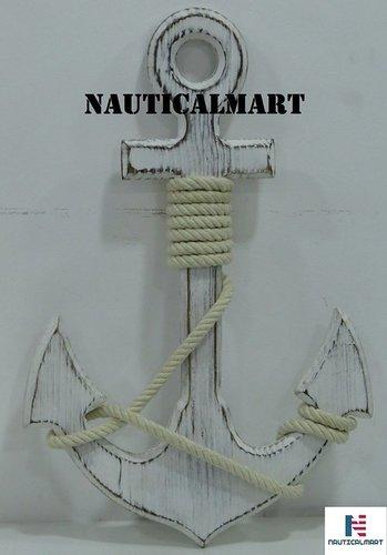 NauticalMart Wooden Anchor Wall Decor