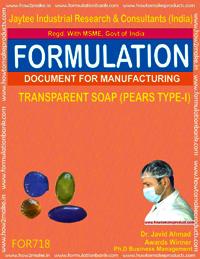 FORMULA FOR TRANSPARENT SOAP