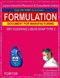 FORMULA FOR DRY CLEANING LIQUID SOAP