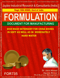 DISH WASH DETERGENT 4 CHINA DISHES IN SOFT&MODERATELY HARD WATER