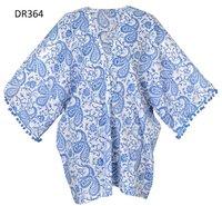 10 Cotton Hand Block Print Poncho Kaftan DR364