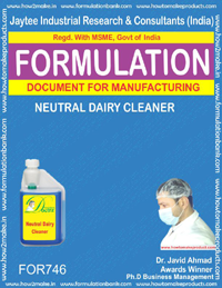 FORMULA FOR NEUTRAL DAIRY CLEANER