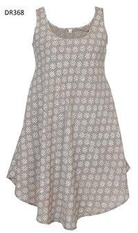 10 Cotton Hand Block Print Sleeveless Long Dress DR368
