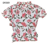 10 Cotton Hand Block Print Short Womens Tops DR369