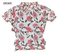 10 Cotton Hand Block Print Short Womens Tops DR369
