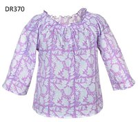 10 Cotton Hand Block Print Short Womens Tops DR370