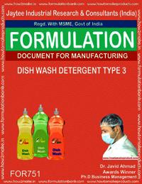 DISH WASH DETERGENT TYPE 3