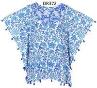 10 Cotton Hand Block Print Short Kaftan DR372