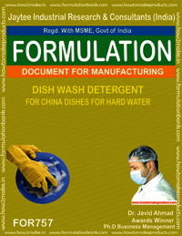 DISH WASH DETERGENT FOR CHINA DISHES BY HARD WATER