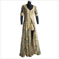 Embroidered Net Anarkali Dress