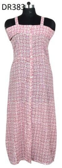 10 Cotton Hand Block Print Spaghetti Sleepwear Women Dress DR383