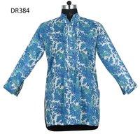 10 Cotton Hand Block Print Tunic Kurti Hip Length DR384