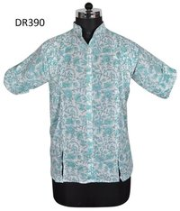 10 Cotton Hand Block print women Shirt DR390