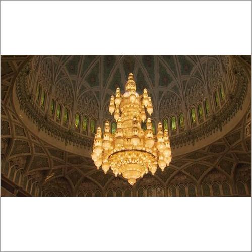 Mezquita Del Viernes Mascate Candelabro Islam