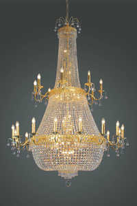 Crystal Bag Chandelier Gold