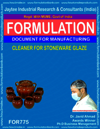 CLEANER FOR STONEWARE GLAZE