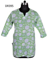 10 Cotton Hand Block Print Womens Short Top Kurti DR395