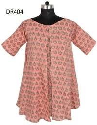 10 Cotton Hand Block Print Short Dress Top Dr404