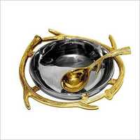 Aluminium Bowl With Spoon