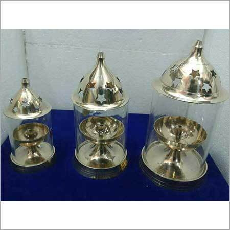 Brass New Diamond Diya