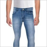 Mens Washed Slim Fit Jeans