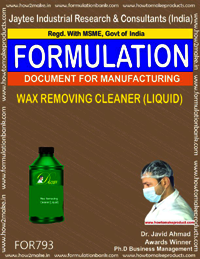 WAX REMOVING CLEANER (LIQUID)