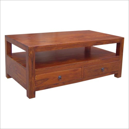Hardwood Coffee Table With Storage