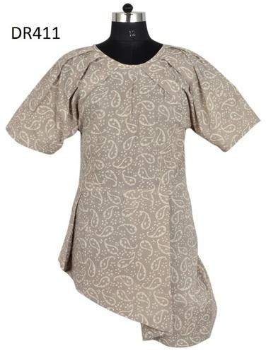 10 Cotton Hand Block Printed Short Womens Dress DR411