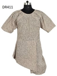 10 Cotton Hand Block Printed Short Womens Dress DR411