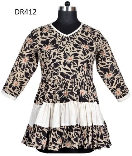 10 Cotton Hand Block Print Frock Womens Top DR412