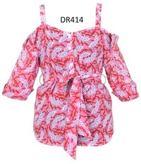10 Cotton Hand Block Print Spaghetti Top DR414