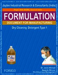 Dry Cleaning Liquid Detergent type 1