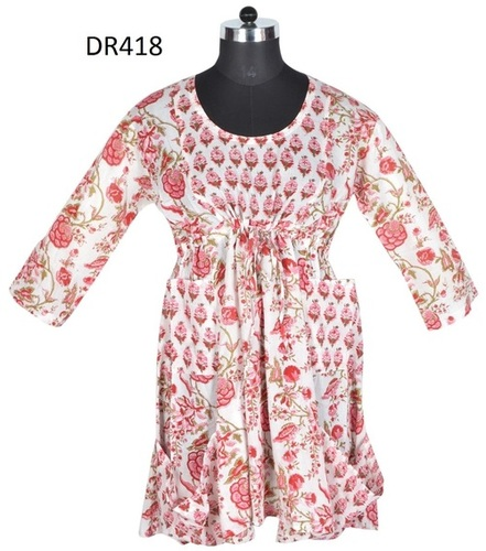 10 Cotton Hand Block Print Short Patchwork Dress DR418