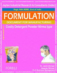 Costly Detergent Powder Formulation Nirma type