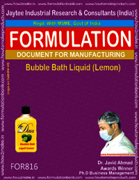 Bubble Bath Liquid Lemon Formulation