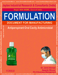 Antiperspirant Oral Cavity Antimicrobial Formulation