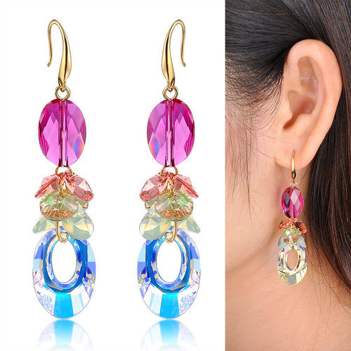 Pink Imitation Earring