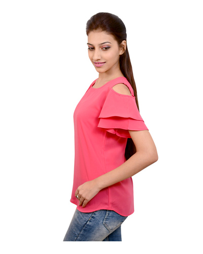 Flaired Cold Shoulder Top
