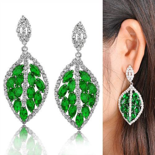 Green Imitation Earrings